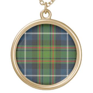 Colar Banhado A Ouro Tartan escocês de MacRae do clã do dom