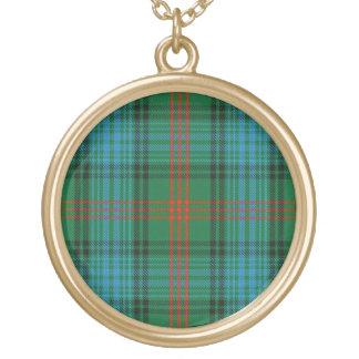 Colar Banhado A Ouro Tartan escocês de Ross do clã do dom