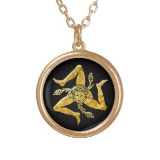 Colar Banhado A Ouro Trinacria siciliano no ouro