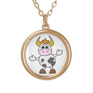 Colar Banhado A Ouro Vaca confundida