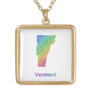 Colar Banhado A Ouro Vermont