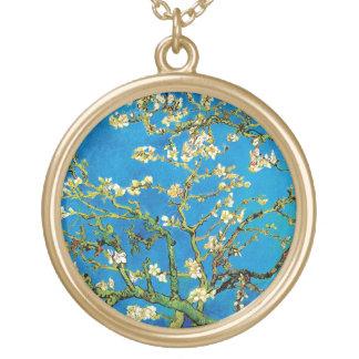 Colar Banhado A Ouro Vincent van Gogh - belas artes de florescência da