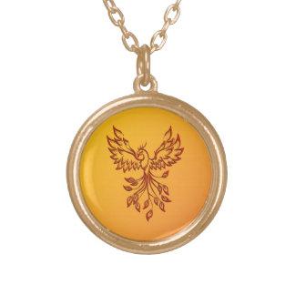 Colar Banhado A Ouro Vôo de um Phoenix
