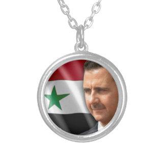 Colar Banhado A Prata بشارالاسد de Bashar al-Assad