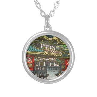 Colar Banhado A Prata 川瀬巴水 de Kawase Hasui: Santuário de Toshogu em