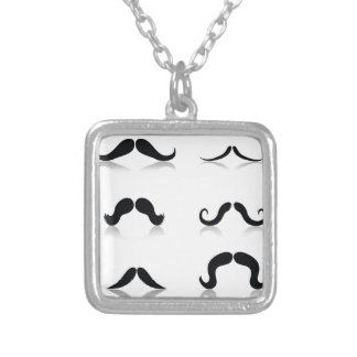 Colar Banhado A Prata 116Set de Mustaches_rasterized