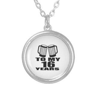 Colar Banhado A Prata 16 elogios a meu aniversário