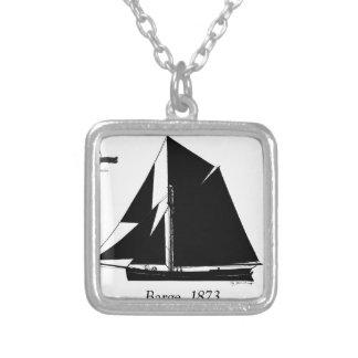 Colar Banhado A Prata 1873 barca - fernandes tony
