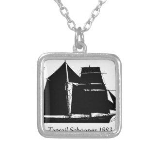 Colar Banhado A Prata 1883 escuna do topsail - fernandes tony