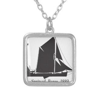 Colar Banhado A Prata 1889 barca do spritsail - fernandes tony