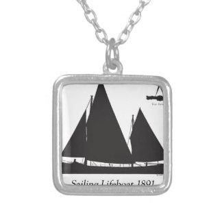 Colar Banhado A Prata 1891 barcos salva-vidas de navigação - fernandes