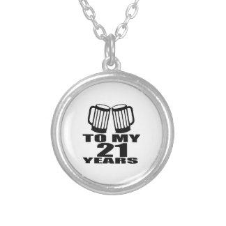 Colar Banhado A Prata 21 elogios a meu aniversário