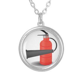 Colar Banhado A Prata 90Fire Extinguisher_rasterized