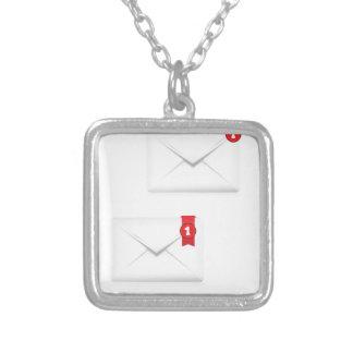 Colar Banhado A Prata 91Mailbox Icon_rasterized alerta