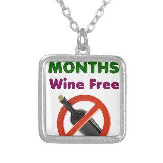 Colar Banhado A Prata 9 meses de vinho livram, mulher gravida, bebê da