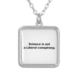 Colar Banhado A Prata A ciência não é uma conspiração liberal
