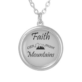 Colar Banhado A Prata A fé pode mover montanhas
