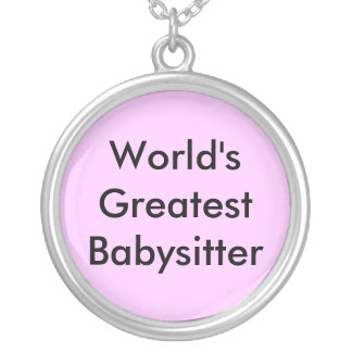 Colar Banhado A Prata A grande baby-sitter do mundo