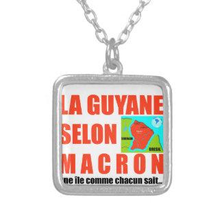 Colar Banhado A Prata A Guiana de acordo com Macron é uma ilha