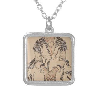 Colar Banhado A Prata A irmã do artista de Egon Schiele- na lei