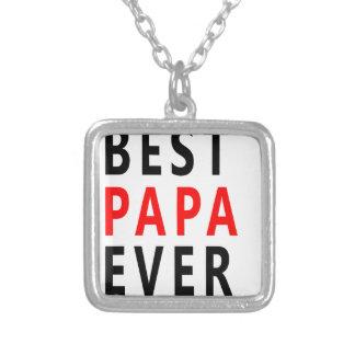 Colar Banhado A Prata A melhor papá nunca