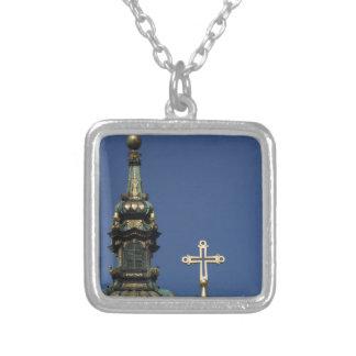 Colar Banhado A Prata Abóbadas ortodoxos da igreja cristã