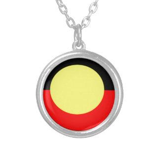 Colar Banhado A Prata Aborígene-Bandeira