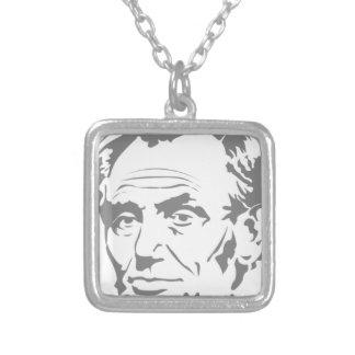Colar Banhado A Prata Abraham Lincoln