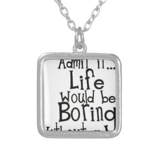 Colar Banhado A Prata Admita-o… Vida…