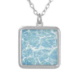 Colar Banhado A Prata Água da piscina, piscina, natação, verão
