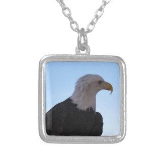 Colar Banhado A Prata Águia americana