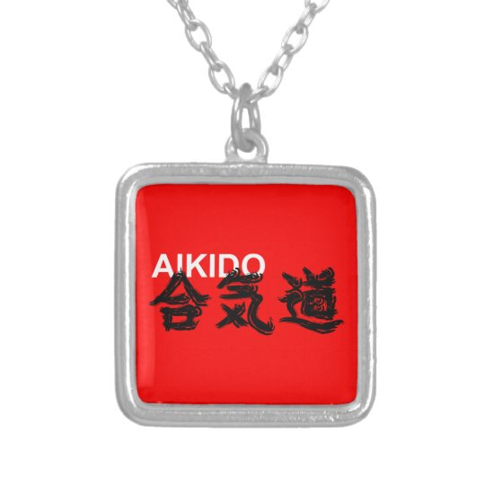 Colar Banhado A Prata Aikido