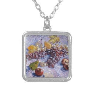 Colar Banhado A Prata Ainda vida: Maçãs, peras, uvas - Van Gogh