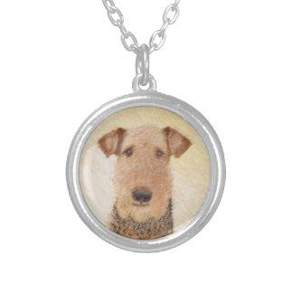 Colar Banhado A Prata Airedale Terrier