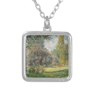 Colar Banhado A Prata Ajardine o Parc Monceau - Claude Monet