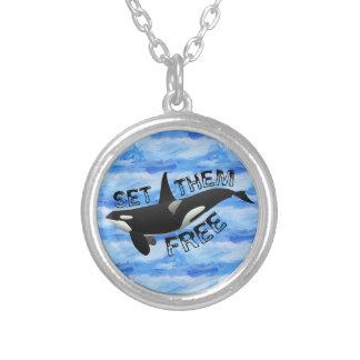 Colar Banhado A Prata Ajuste-os livre orca