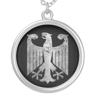 Colar Banhado A Prata Alemão Eagle