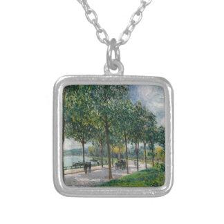 Colar Banhado A Prata Allée de árvores de castanha - Alfred Sisley