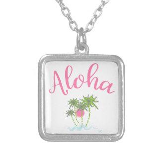 Colar Banhado A Prata Aloha estilo havaiano Summera das praias