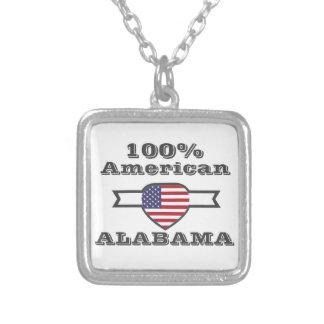 Colar Banhado A Prata Americano de 100%, Alabama