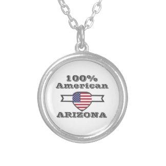 Colar Banhado A Prata Americano de 100%, arizona