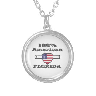 Colar Banhado A Prata Americano de 100%, Florida
