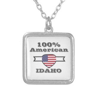 Colar Banhado A Prata Americano de 100%, Idaho