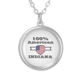 Colar Banhado A Prata Americano de 100%, Indiana