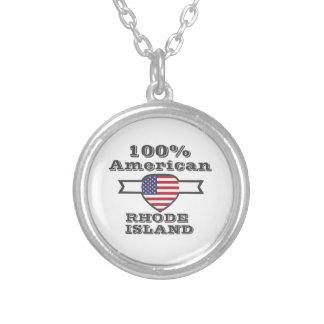 Colar Banhado A Prata Americano de 100%, Rhode - ilha