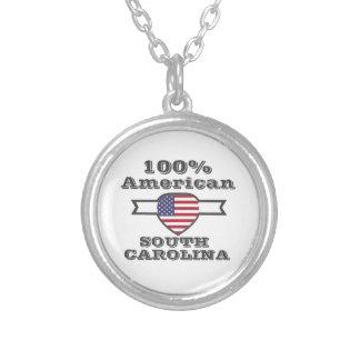 Colar Banhado A Prata Americano de 100%, South Carolina
