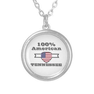 Colar Banhado A Prata Americano de 100%, Tennessee