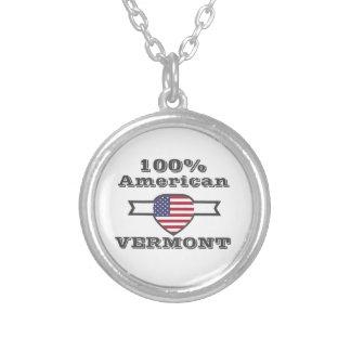 Colar Banhado A Prata Americano de 100%, Vermont