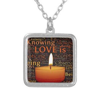 Colar Banhado A Prata Amor, citações da vela