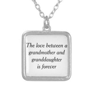 Colar Banhado A Prata Amor da avó & da neta